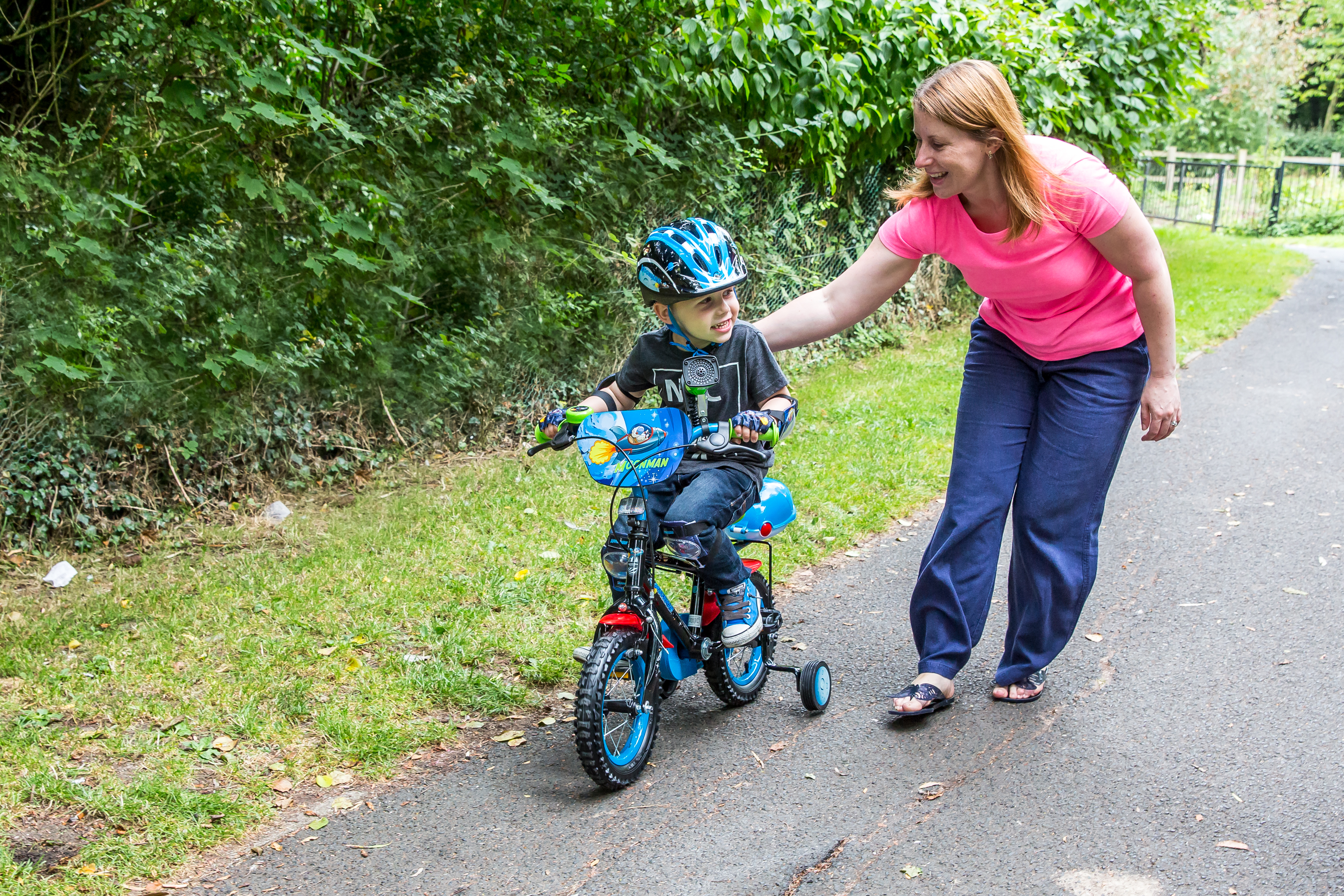 riding with stabilisers